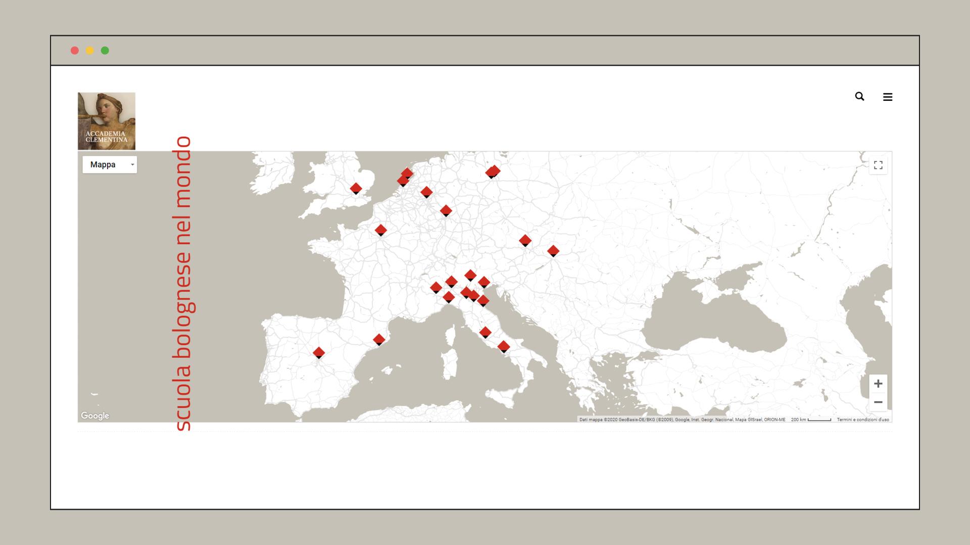 Sito Web Accademia Clementina