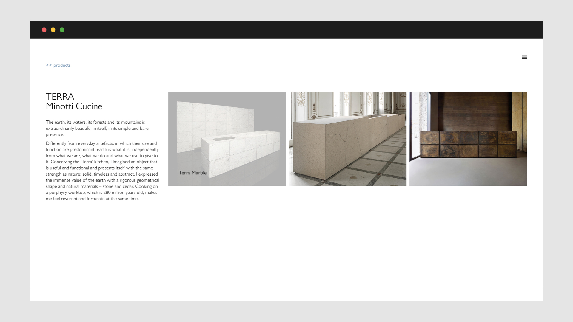 Sito web Claudio Silvestrin Architects