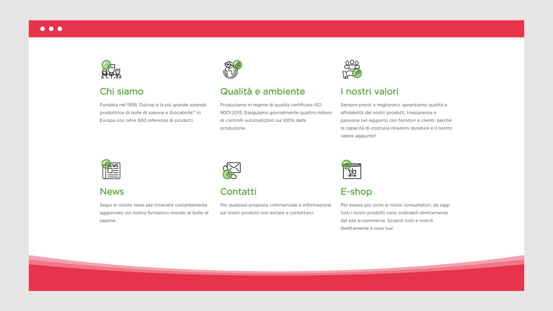 Sito web Dulcop