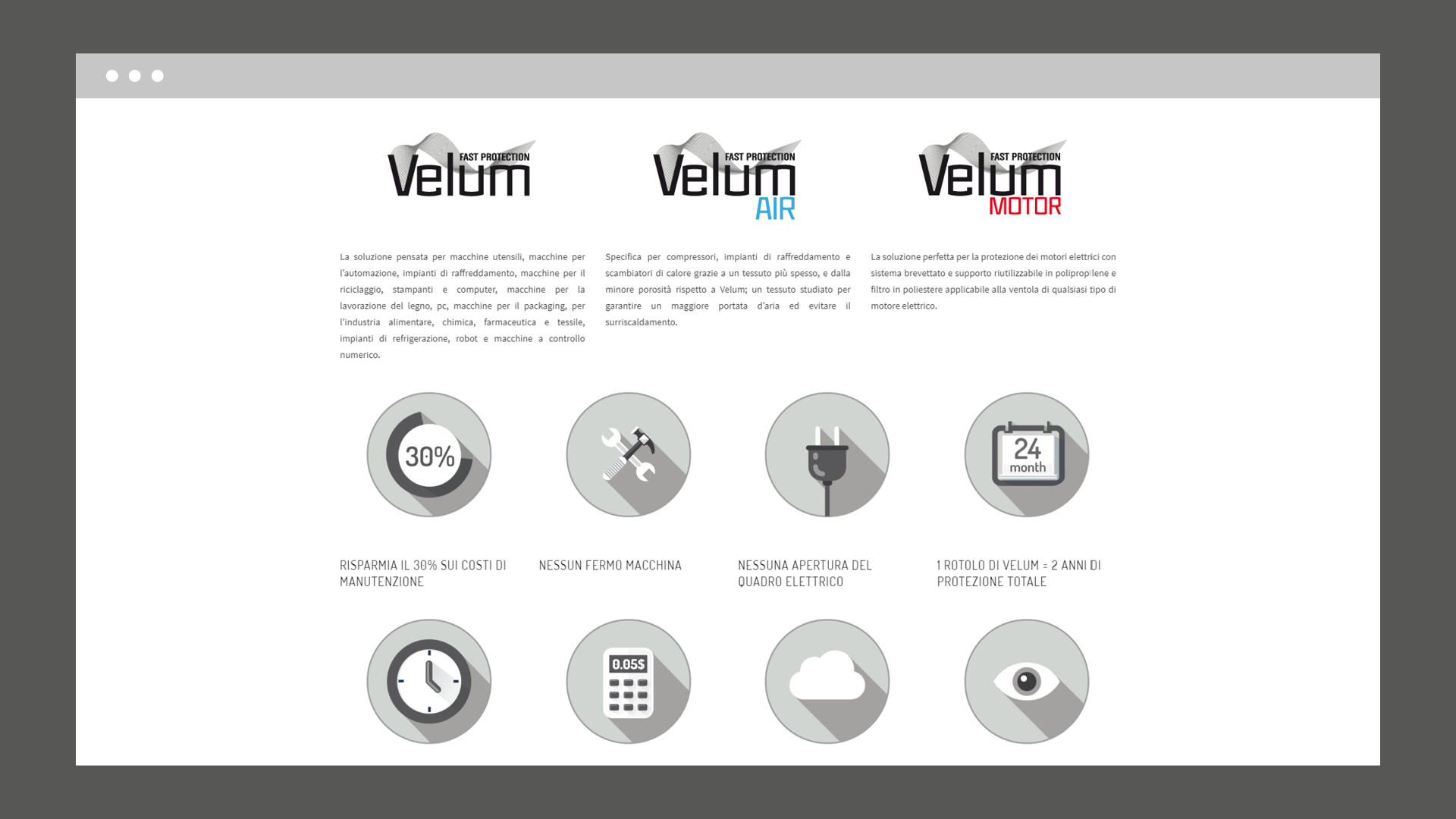 Sito web Velum Protection