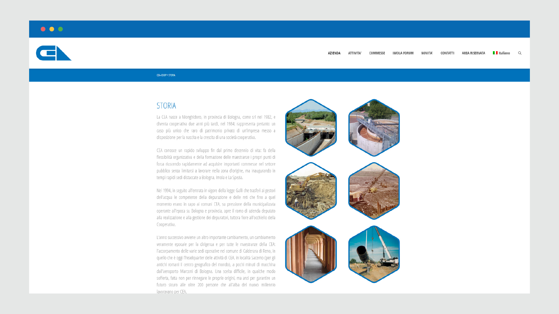 Sito web CEA Coop