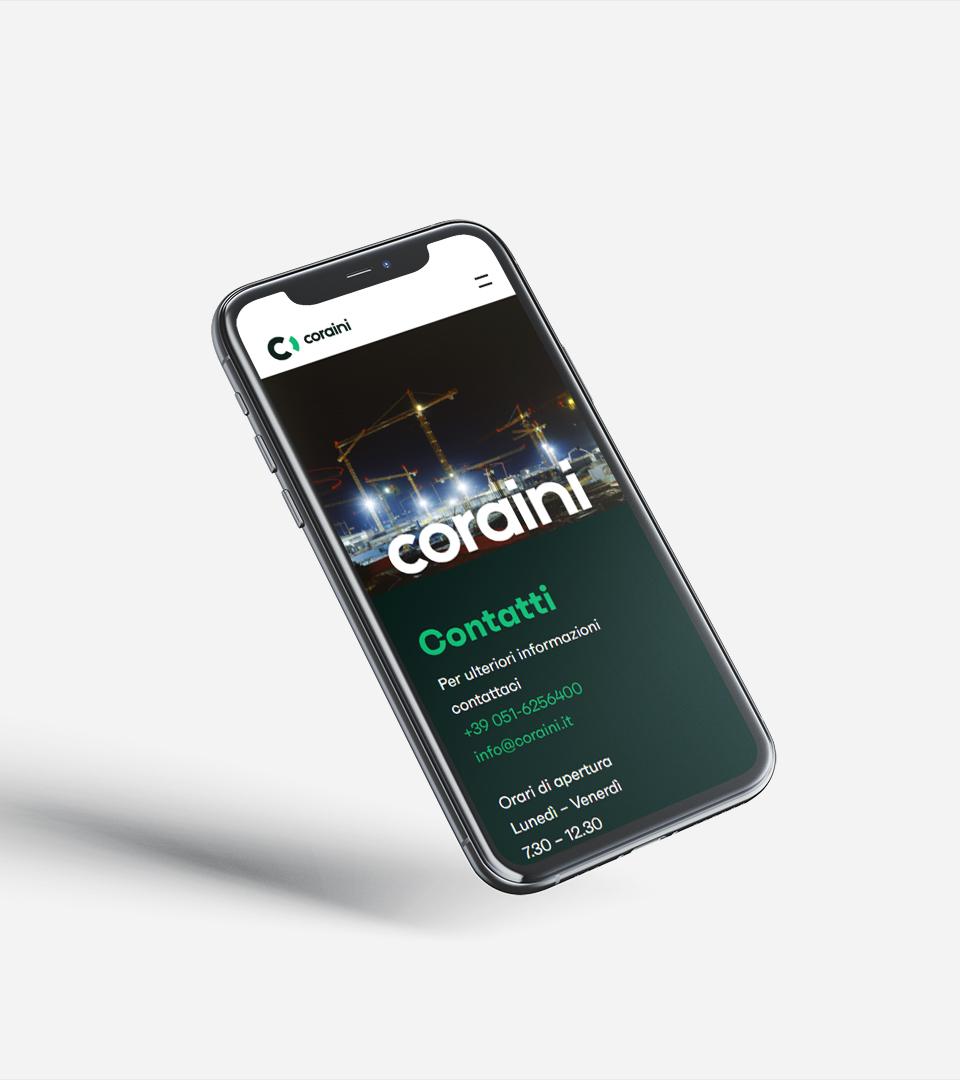 Mobile responsive - Sito web Coraini srl